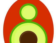 "Check out new work on my @Behance portfolio: ""avocado emblem"" http://be.net/gallery/58510449/avocado-emblem"