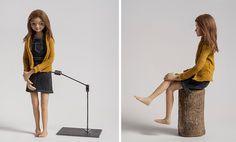 Stop motion girl puppet