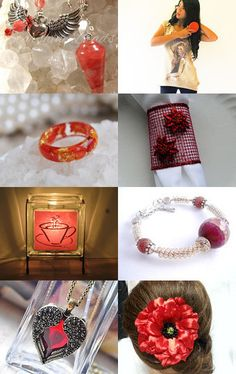 Red Cherry by MARIA JOSE SORIANO SAEZ on Etsy--Pinned with TreasuryPin.com