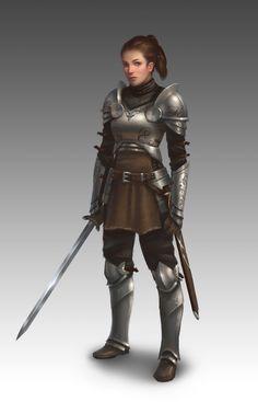 Lady of the Knight by NathanParkArt.deviantart.com on @deviantART