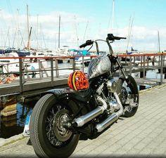 Harley Davidson Softail Evolution Chopper oldschool Frisco Sportster lowbrow custom Gas Tank Paint