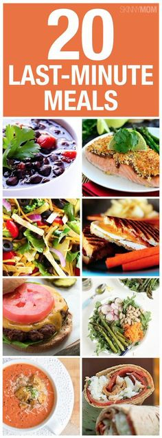 Try these low-cal meals you can fix last minutes. More Low Cal Meals, Last Minute.