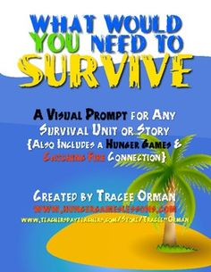 FREE download: Hunger Games Trilogy Survival Survey & Visual Aid - can be used with ANY survival story.