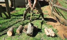 You've been splitting wood the wrong way all your life.