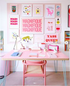 Preppy Bedroom, Bedroom Decor, Preppy Dorm Room, Bedroom Ideas, My New Room, My Room, Plywood Desk, Pink Desk, Home Office Decor