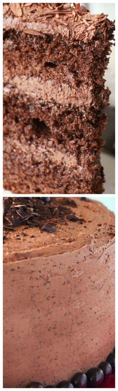 Espresso Chocolate Cake with Espresso Frosting ~ Amazing and super easy to make... It's a chocolate lovers dream!