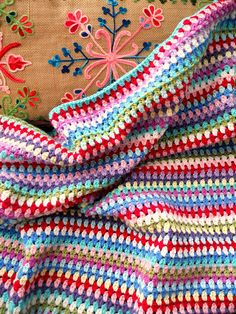 stripes, stripes and more stripes! standard granny stripe but with clusters of 2 instead of 3
