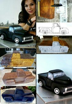 Troka Cake Decorating Techniques, Cake Decorating Tutorials, Cake Structure, Truck Cakes, Car Cakes, Decoration Patisserie, Sculpted Cakes, Cakes For Men, Novelty Cakes