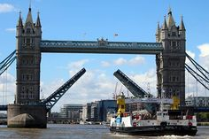 Woolwich Ferry's James Newman approaching Tower Bridge during their annual river trip.  #RiverThames #London #WoolwichFerry #JamesNewman #TowerBridge #AnnualRiverTrip