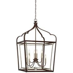 Extend a little contemporary elegance from your ceiling with the Minka Lavery Astrapia 8 Light Foyer Pendant Light . This two-toned pendant light features. Minka Lavery, Foyer Pendant Lighting, Light, Lantern Lights, Entryway Lighting, Pendant Light, Rectangle Chandelier, Chandelier, Bronze Chandelier