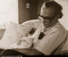 writers and their cats --Charles Bukowski