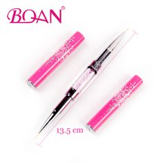 BQAN Double Head 6mm 7mm Acrylic Flower Nail Art Brushes Liner Brush Drawing Line Crystal Handle. Click visit to buy #Nail #Tool #NailTool