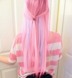 Pink and lilac hair
