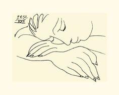 Pablo Picasso - Sleeping Woman - jetzt bestellen auf kunst-fuer-alle.de