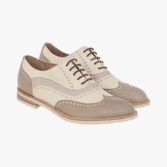 Chaussures derbies bicolores fratelli rossetti