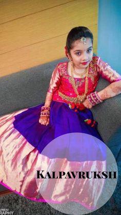 Pinterest@achyi Kids Party Wear Dresses, Kids Dress Wear, Dresses Kids Girl, Kids Outfits, Baby Dresses, Kids Wear, Kids Indian Wear, Kids Ethnic Wear, Indian Baby