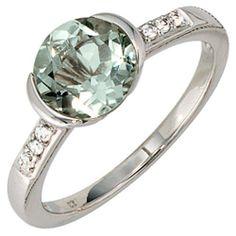 Damen-Ring 1 grün er Amethyst 14 Karat (585) Weißgold 6 Diamant 0.06 ct. 56 (17.8) Dreambase, http://www.amazon.de/dp/B00AWAP29W/ref=cm_sw_r_pi_dp_JAYPsb0PGNWEW