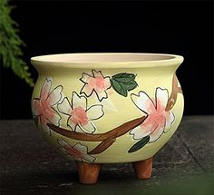 SPIE Korea Handpainted Ceramic Flowerpot Flowerpot Decoration Creative Succulents Home Furnishing Potted Flowers *** Want additional info? Click on the image-affiliate link.