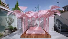"""Colour of the moment """"millennial pink"""" dominates at Milan design week"""