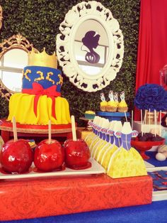 Princess Theme Birthday, Disney Princess Party, Snow White Birthday, Princesas Disney, Birthday Decorations, First Birthdays, Party Themes, Birthday Parties, Ideas