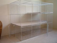 Can someone tell me what you use as a base for you rabbit cage? If anyone has build a C&C cage for a rabbit please post them here. Diy Bunny Cage, Bunny Cages, Cat Cages, Rabbit Cages, Rabbit Cage Diy, Indoor Rabbit House, House Rabbit, Indoor Rabbit Cage, Angora Rabbit