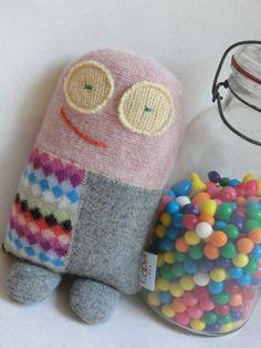 Loop Loft :: doll softie mini milo softie made from repurposed wool by looploft, $30.00