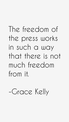 Find heights, weights, measurements, dating history and quotes on tens of thousands of celebrities. Grace Kelly Quotes, Freedom Of The Press, Dating, Inspirational Quotes, Wisdom, Words, Celebrities, Monaco, Princess