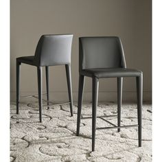 Safavieh 26-inch Garretson Grey Counter Stool (Set of 2) | Overstock.com Shopping - The Best Deals on Bar Stools