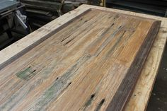 recycled timber dining table in progress / www.timbermill.com.au #timber #furniture #diningtable #design #recycled