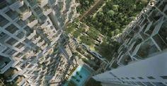 New luxury housing project in Singapore will feature three bridges (Garden Walks) between the two 38-story towers | Neues Luxus Wohnprojekt in Singapur beinhaltet drei Brücken (Garten Pfade) zwischen den beiden 38stöckigen Hochhäusern