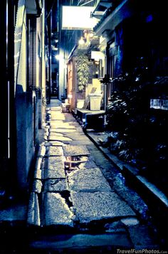 Back Alley At Night in Kagurazaka, Tokyo, Japan  I love getting lost in little alleys like these in Japan