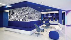 Corporate Branding An article about how JetBlue incorporated branding concepts into the design of its office space.