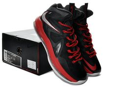 Nike LeBron 10 PS Elite Away Black Red Silver
