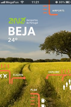 ANA Portuguese Airports. Navigation view