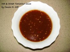 Hot & Sweet Tamarind Sauce | Fauzias Kitchen Fun
