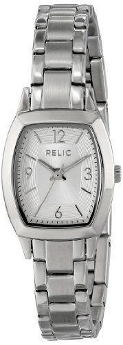 Relic Women's ZR34270 Everly Silvertone Watch. Analog-quartz. Case diameter: 20.5mm. Stainless steel bracelet. Durable mineral crystal protects watch from scratches. Water resistant to 165 feet (50 M): suitable for swimming and showering.