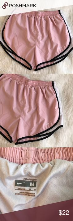 Pink and Black Nike Running Shorts White liner, good condition Nike Shorts