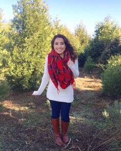 My #OOTD for Christmas Tree shopping! My scarf is only $11.99 from Target! See full outfit details on my Instagram page: Gverastyle