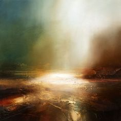 Setting Sun 2 Oil painting by Paul Bennett Canvas Painting Landscape, Seascape Paintings, Oil Painting Abstract, Light Painting, Landscape Art, Abstract Art, Art Paintings, Fractal, Encaustic Art