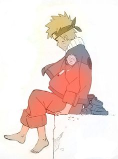 Naruto. He looks so lonely. Its so sad. I wanted to cry.