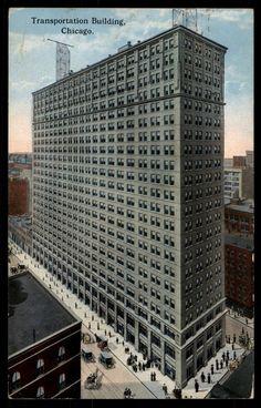 Chicago Illinois Transportation Building 1914 Postcard | eBay