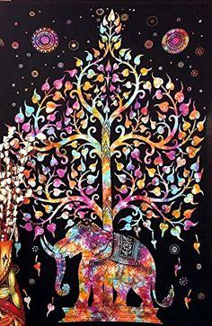 Marubhumi Tree of Life Psychedelic Wall Hanging Elephant ... https://www.amazon.com/dp/B00P7QG03S/ref=cm_sw_r_pi_dp_x_aLX5xbKS19R8N
