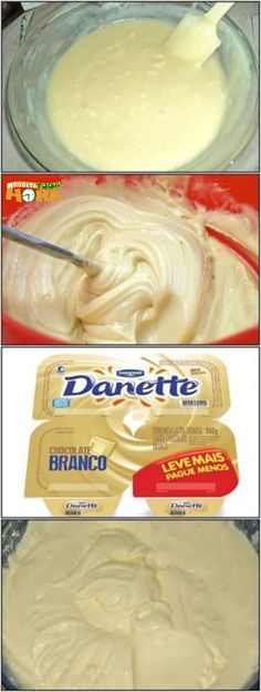 The Danete White domesticated is very economical, easy to make and delicious. Instead of buying the jars at the grocery store, do at home and save enough, without giving up the taste and consistency characteristic of Danete! Chef Recipes, Sweet Recipes, Bakers Gonna Bake, Yummy Food, Tasty, Creative Food, Diy Food, Food Truck, Healthy Cooking