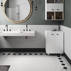 Scale White, Black 11,6x10,1. #minimal, #minimalist, #modern forms, #monochromatic, #shape, #trend, #vanguard, #wall & floor tiles, #wall tile, #basic colour, #bathroom floor, #contemporary, #design, #bathroom wall tile, #hexagon tile, #hexagon, #geometric, #geometry, #contemporary design, #equipe, #equipe cerámicas
