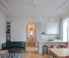 Neoclassical And Art Deco Features in Vilnius Interior Modern Interior, Interior Design, Urban Apartment, Neoclassical, Minimalist Decor, Art Deco, Furniture, Design Trends, Home Decor