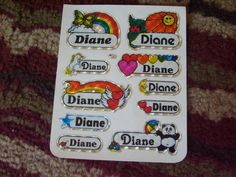 Personalized stickers #80s. They never had my name!