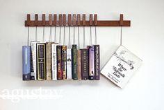 Book rack in solid dark Oak by agustav.   See more here: www.agustav.com
