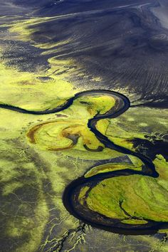 Neon River Valley ~ Fjallabak, Iceland