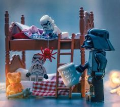 ~ Lego Mocs Holidays ~ Father's Day ~ It's time to see DarkSide dreams 🐄 Lego Stormtrooper, Lego Batman, Lego Star Wars, Legos, Lego Humor, Aniversario Star Wars, Lego Universe, Star Wars Figurines, Star War 3