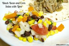 I can eat healthy every day if it tastes this delicious! Black Bean and Corn Salsa with Lime #whole30